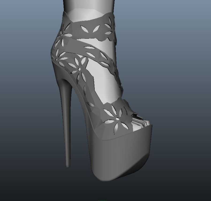 high heel shoe royalty-free 3d model - Preview no. 4