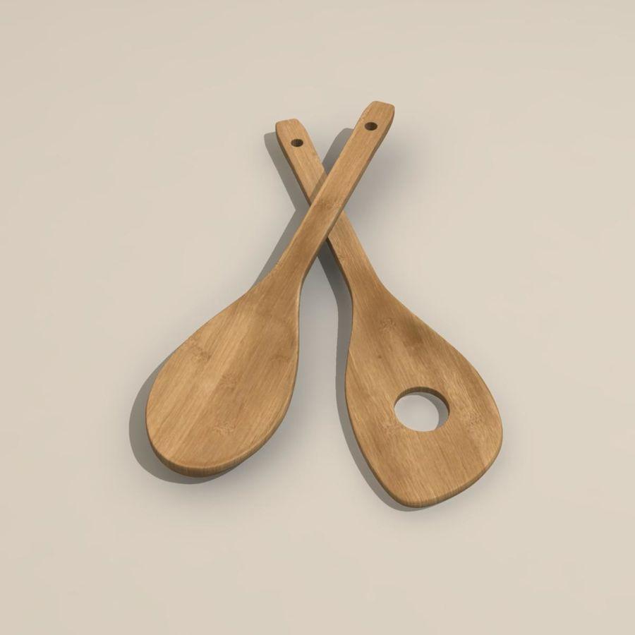 Cucharas de madera royalty-free modelo 3d - Preview no. 2