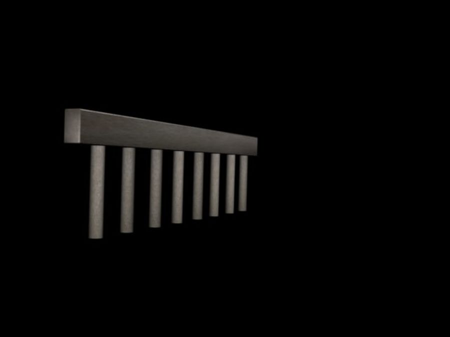 Concete Bridge Support 8 Sticks royalty-free 3d model - Preview no. 3