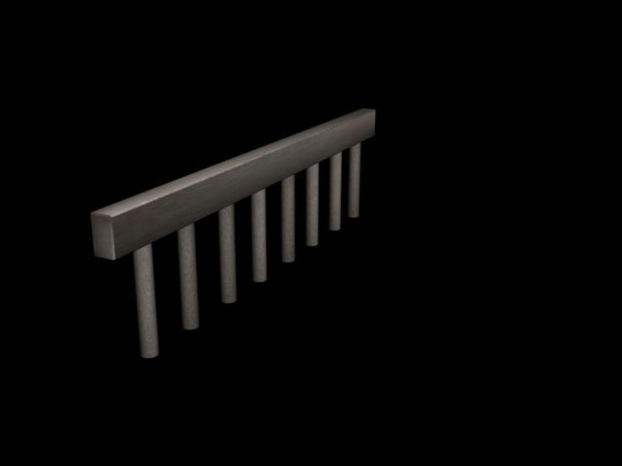 Concete Bridge Support 8 Sticks royalty-free 3d model - Preview no. 6