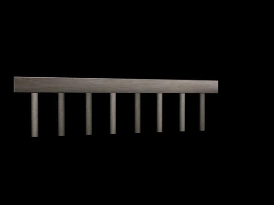 Concete Bridge Support 8 Sticks royalty-free 3d model - Preview no. 2