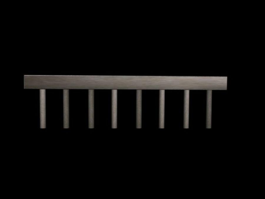 Concete Bridge Support 8 Sticks royalty-free 3d model - Preview no. 4