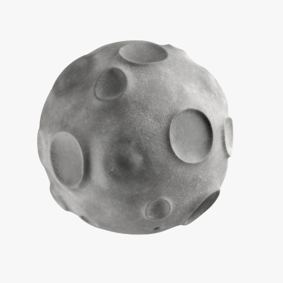 Cartoon Moon royalty-free 3d model - Preview no. 5