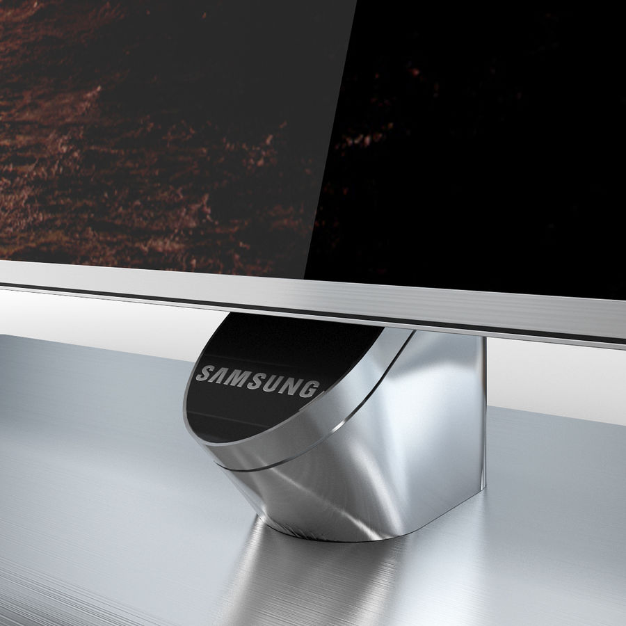Samsung 60 inch F7000 Smart Evolution 3D Full HD LED TV royalty-free 3d model - Preview no. 15
