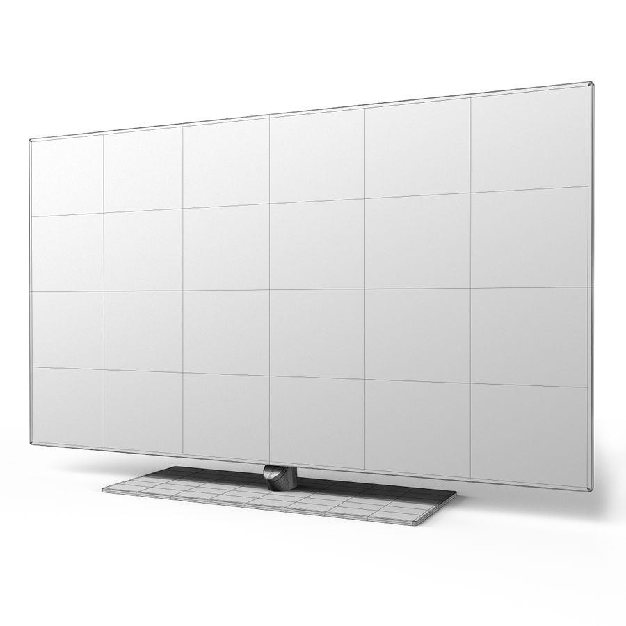 Samsung 60 inch F7000 Smart Evolution 3D Full HD LED TV royalty-free 3d model - Preview no. 17