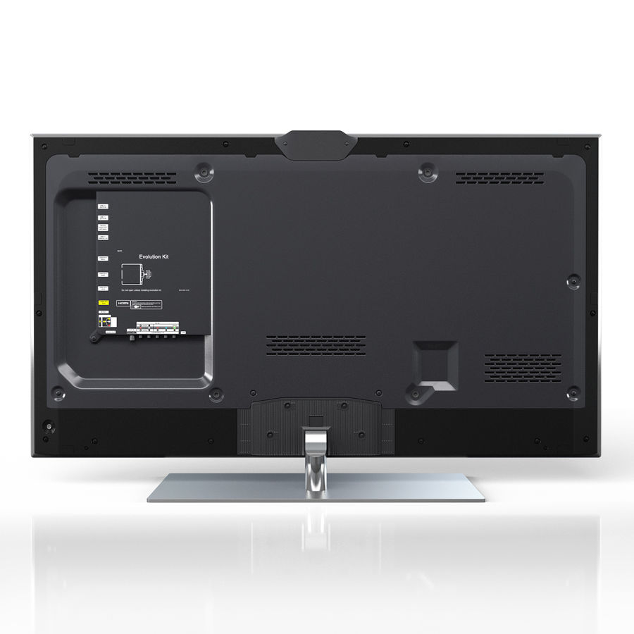 Samsung 60 inch F7000 Smart Evolution 3D Full HD LED TV royalty-free 3d model - Preview no. 6