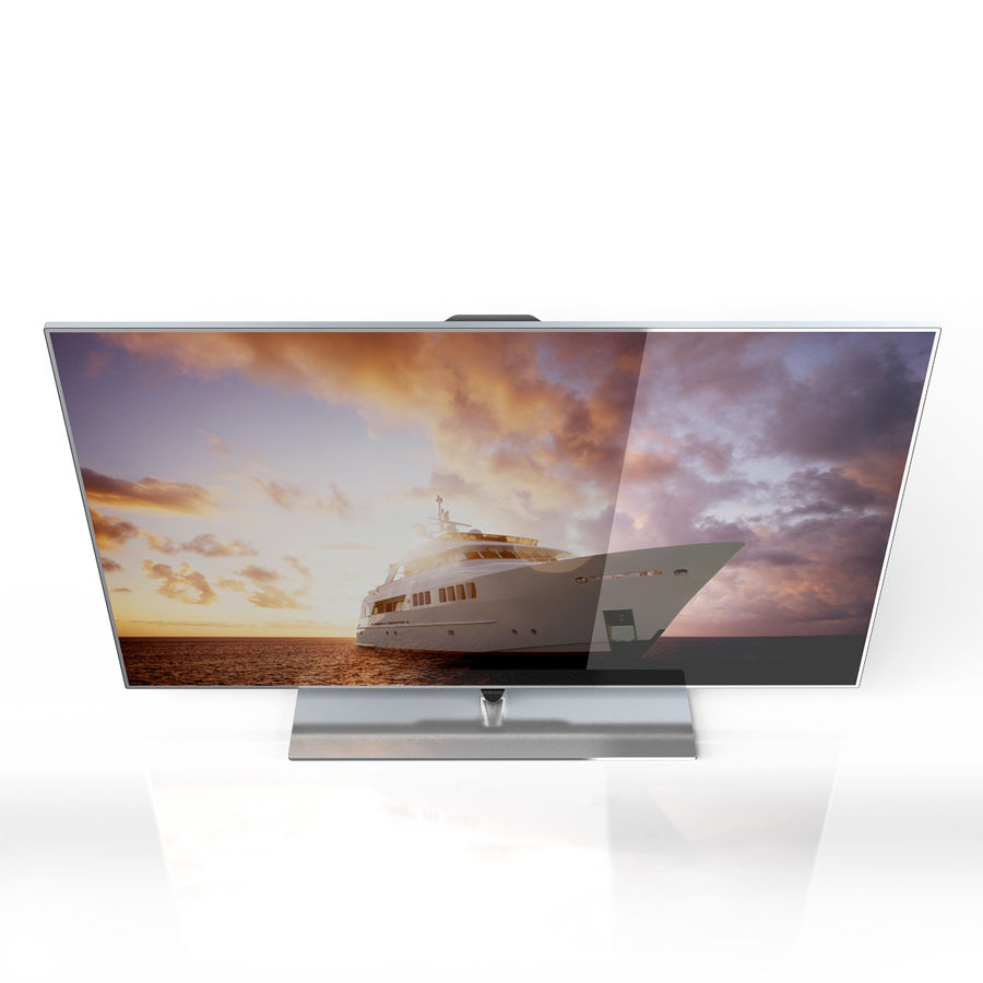 Samsung 60 inch F7000 Smart Evolution 3D Full HD LED TV royalty-free 3d model - Preview no. 4