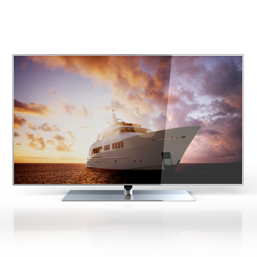 Samsung 60 inch F7000 Smart Evolution 3D Full HD LED TV royalty-free 3d model - Preview no. 3