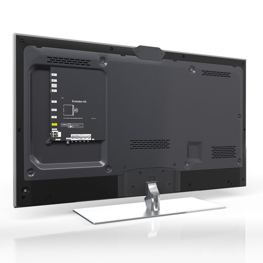 Samsung 60 inch F7000 Smart Evolution 3D Full HD LED TV royalty-free 3d model - Preview no. 5