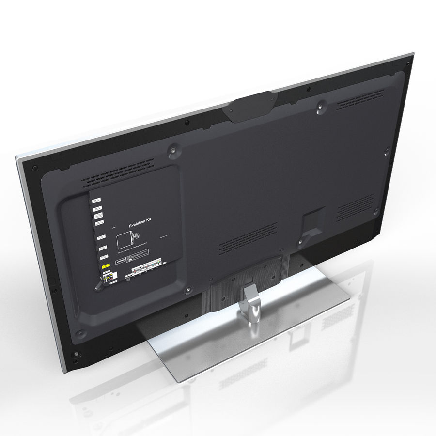 Samsung 60 inch F7000 Smart Evolution 3D Full HD LED TV royalty-free 3d model - Preview no. 7