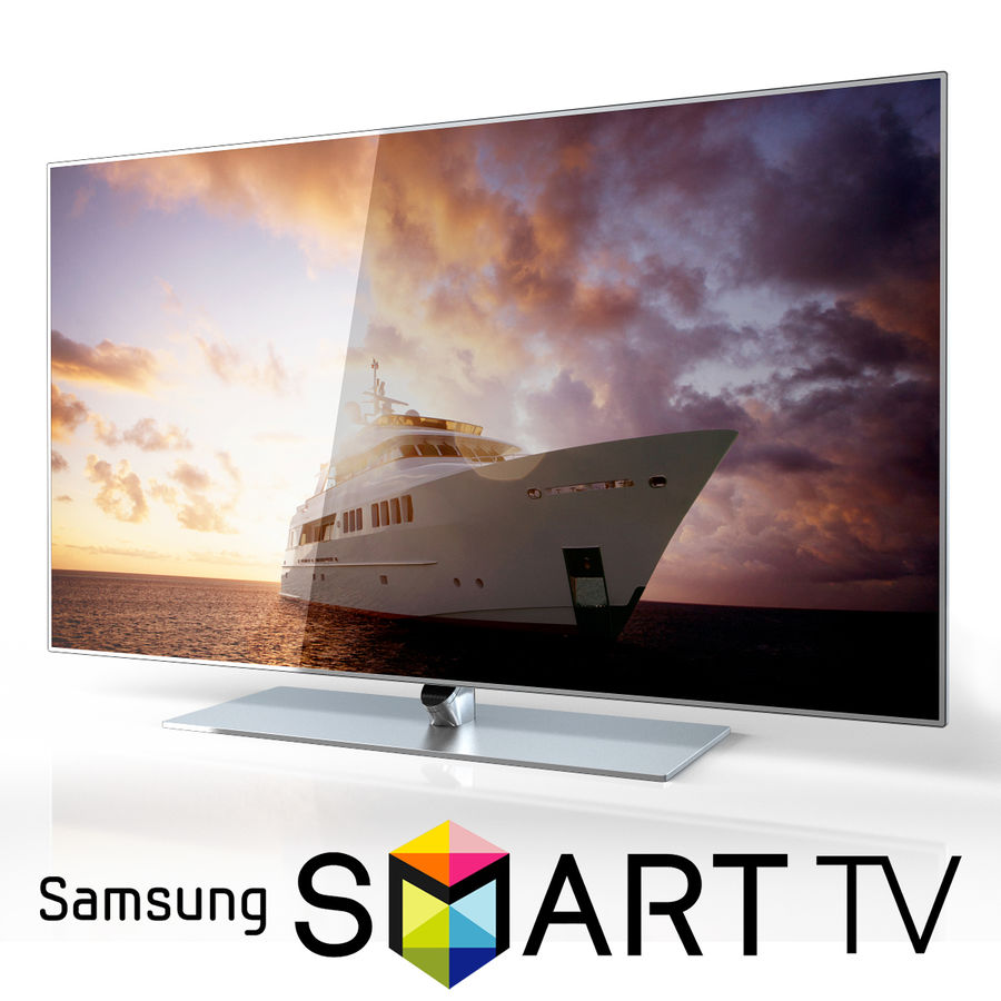 Samsung 60 inch F7000 Smart Evolution 3D Full HD LED TV royalty-free 3d model - Preview no. 1