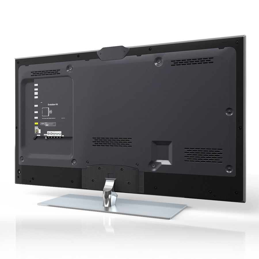 Samsung 60 inch F7000 Smart Evolution 3D Full HD LED TV royalty-free 3d model - Preview no. 2