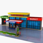 Cartoon Gas Station 2 3d model