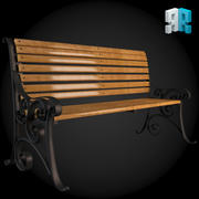 Скамья 012 3d model