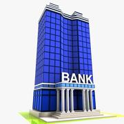 Cartoon Bank 2 3d model