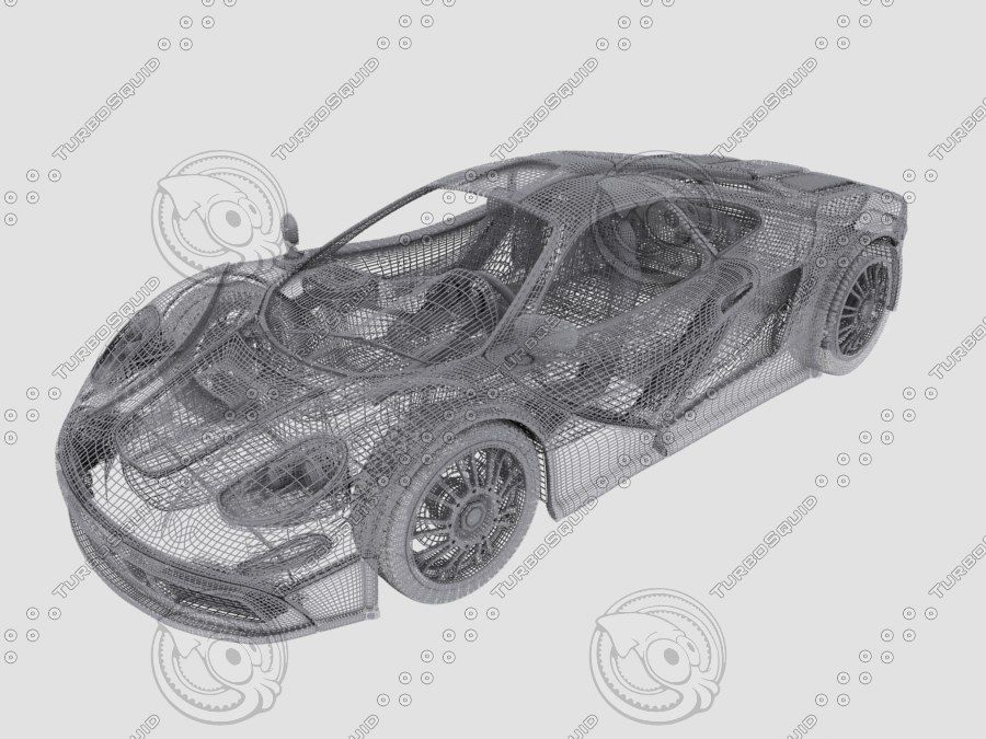 Car_02 royalty-free 3d model - Preview no. 3