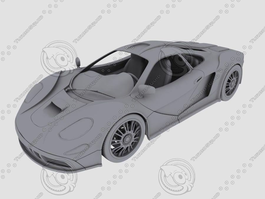 Car_02 royalty-free 3d model - Preview no. 2