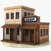 Мультфильм Вестерн Билдинг 1 (Шериф) 3d model