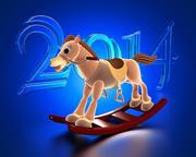 Geanimeerd Kerstpaard 3d model