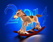 Animated Christmas Horse 3d model