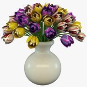 Tulipes dans un vase 2 3d model