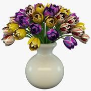 郁金香在花瓶2 3d model