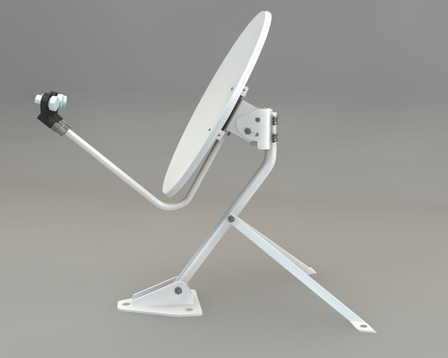 Antenna parabolica royalty-free 3d model - Preview no. 3