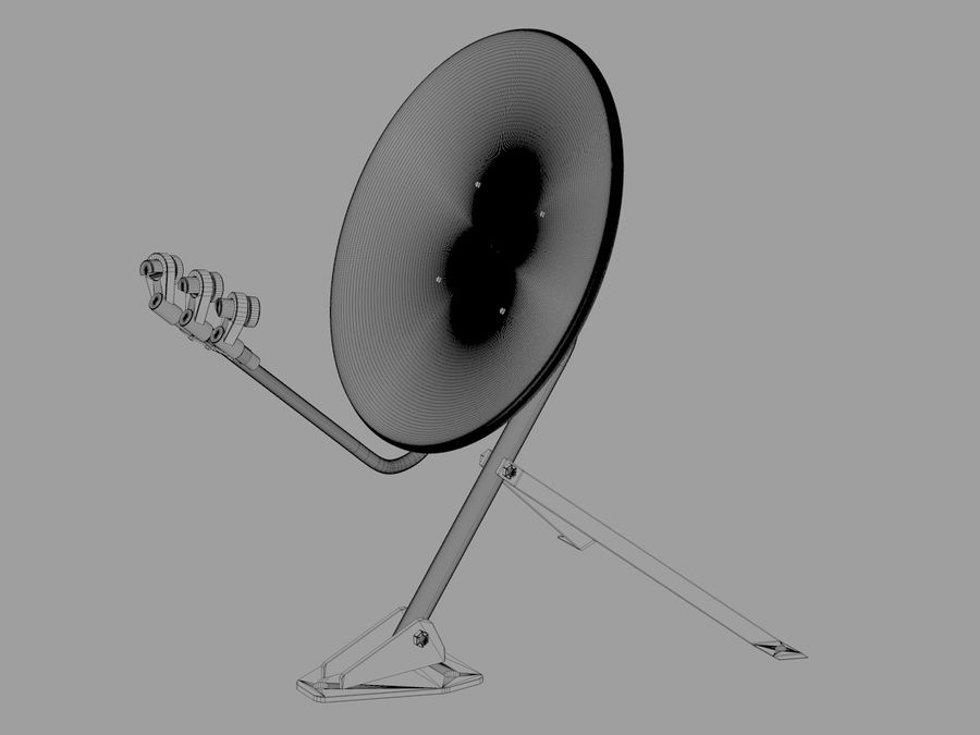 Antenna parabolica royalty-free 3d model - Preview no. 5