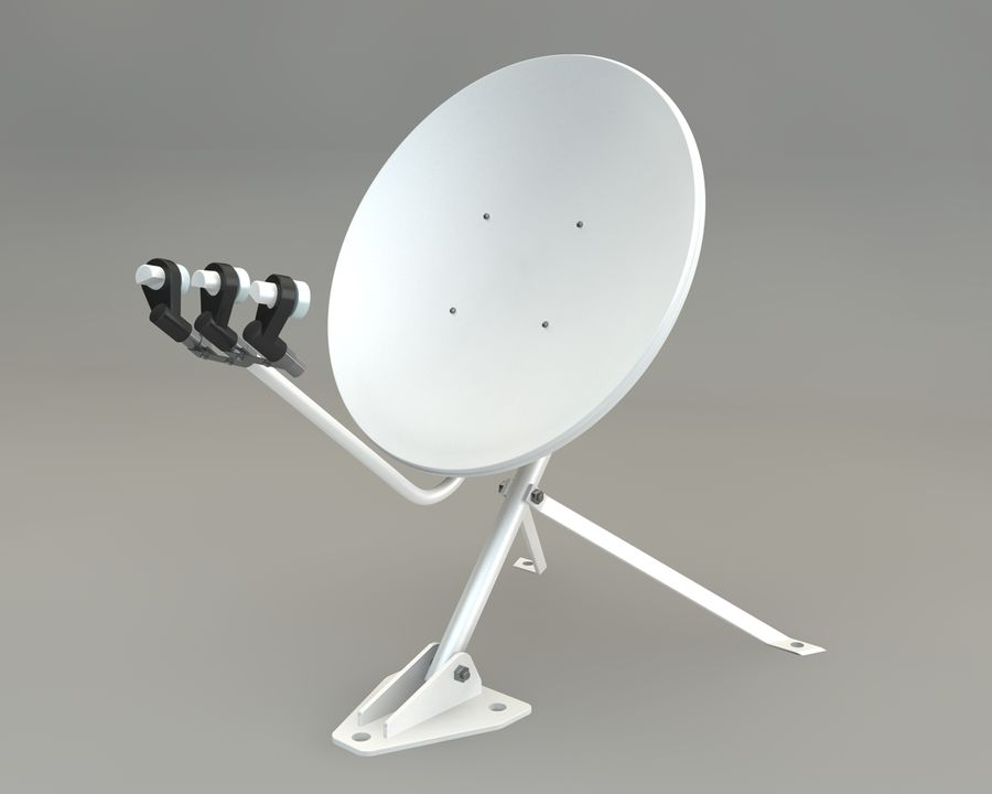 Antena satelitarna royalty-free 3d model - Preview no. 1