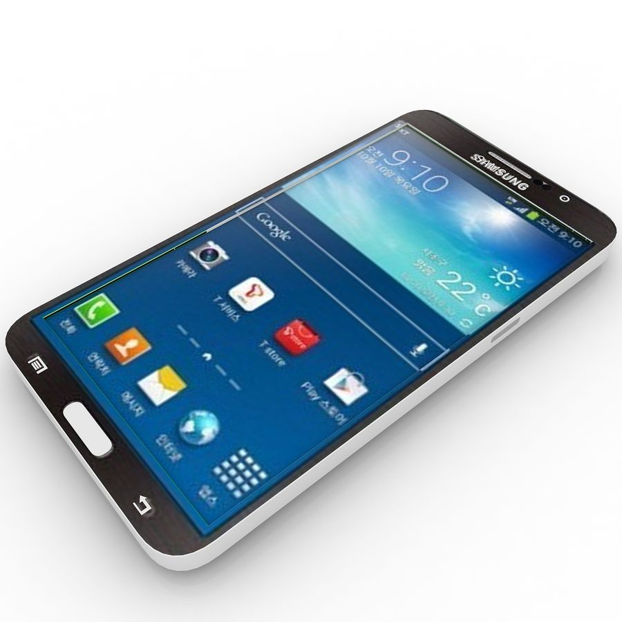Samsung Galaxy Round royalty-free 3d model - Preview no. 1