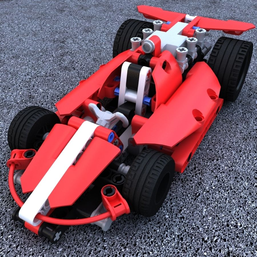 Lego Race Car royalty-free 3d model - Preview no. 2