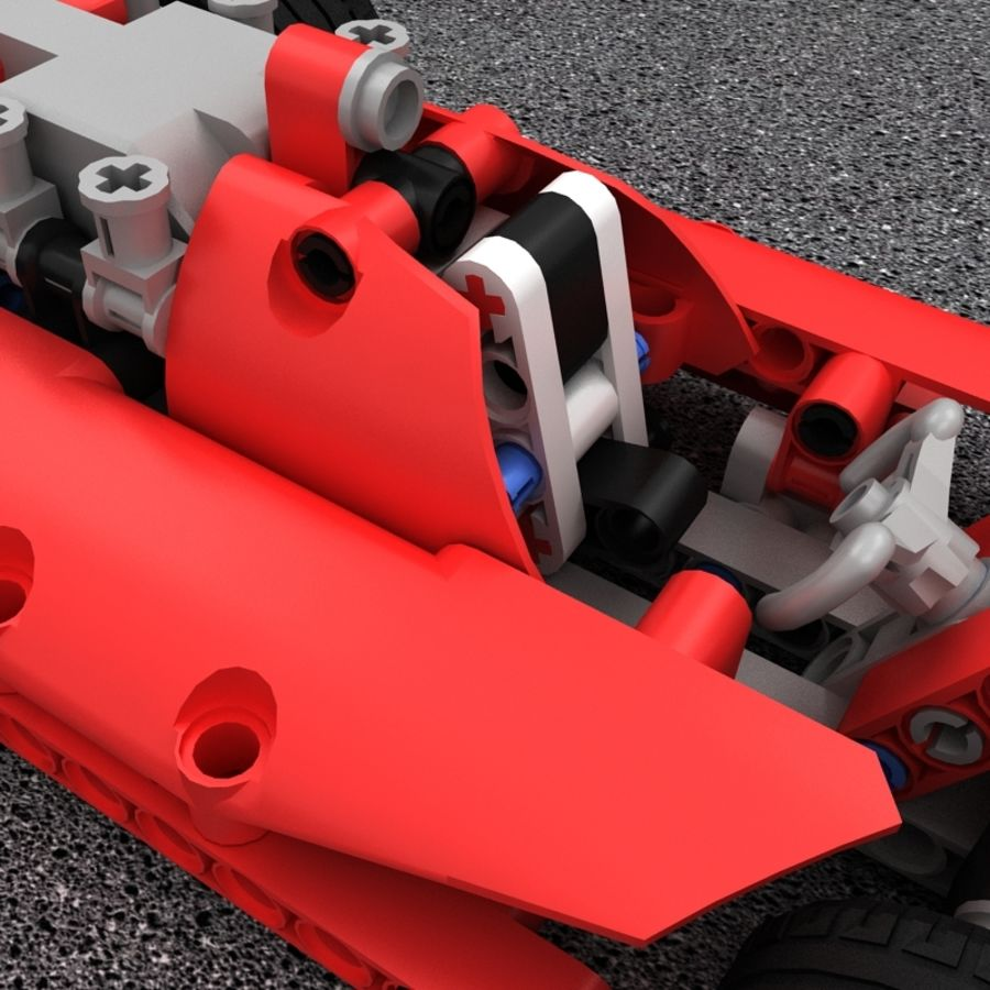 Lego Race Car royalty-free 3d model - Preview no. 7