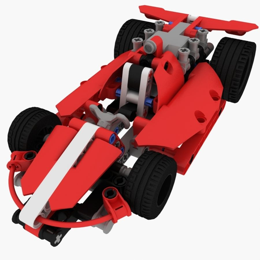 Lego Race Car royalty-free 3d model - Preview no. 1