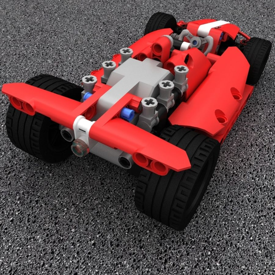 Lego Race Car royalty-free 3d model - Preview no. 5