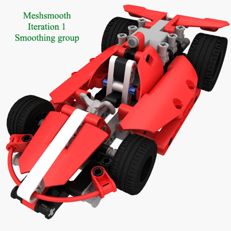 Lego Race Car royalty-free 3d model - Preview no. 4