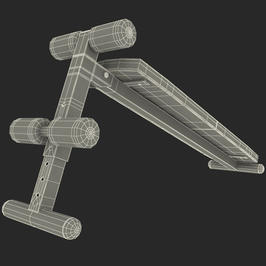 Apex Sit Up Board royalty-free modelo 3d - Preview no. 22