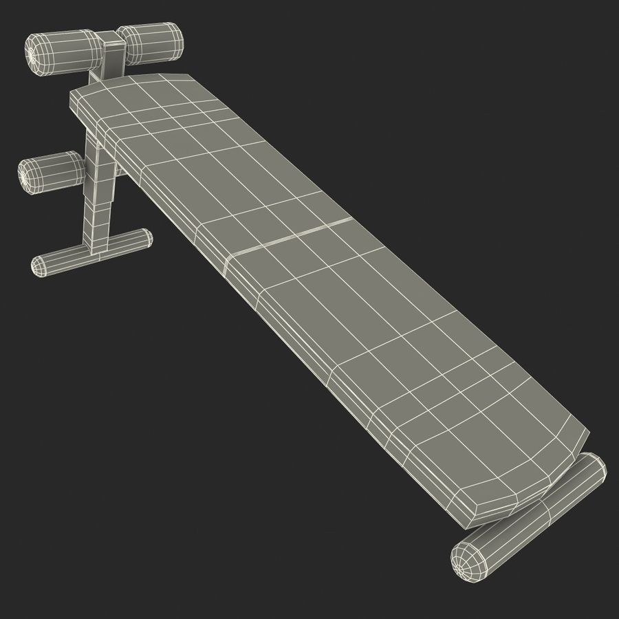 Apex Sit Up Board royalty-free modelo 3d - Preview no. 18