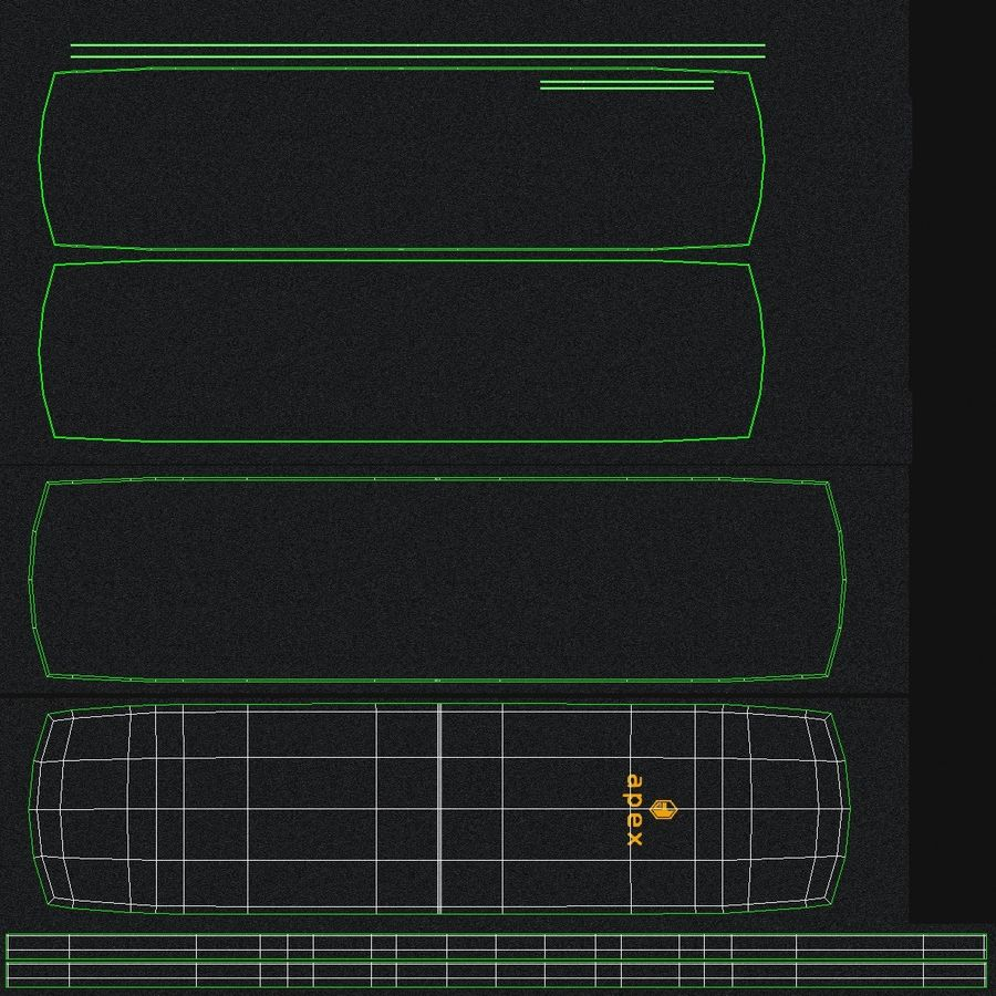 Apex Sit Up Board royalty-free modelo 3d - Preview no. 13