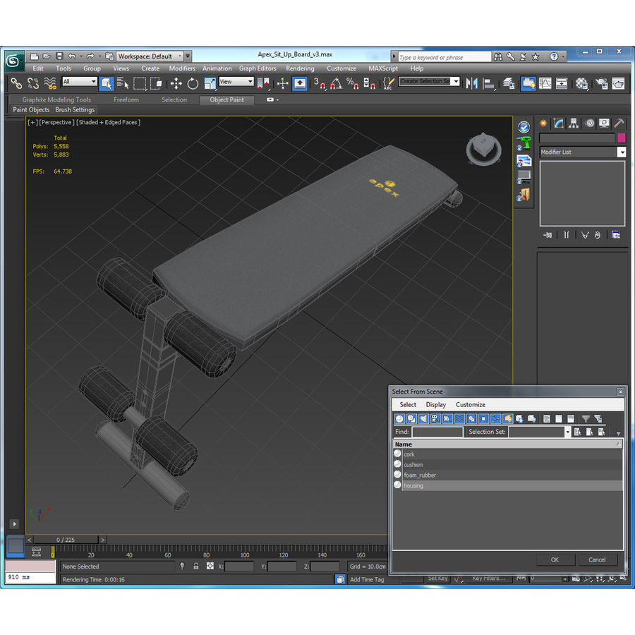 Apex Sit Up Board royalty-free modelo 3d - Preview no. 24