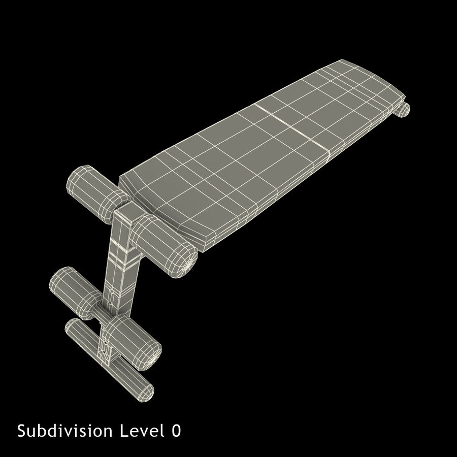Apex Sit Up Board royalty-free modelo 3d - Preview no. 11