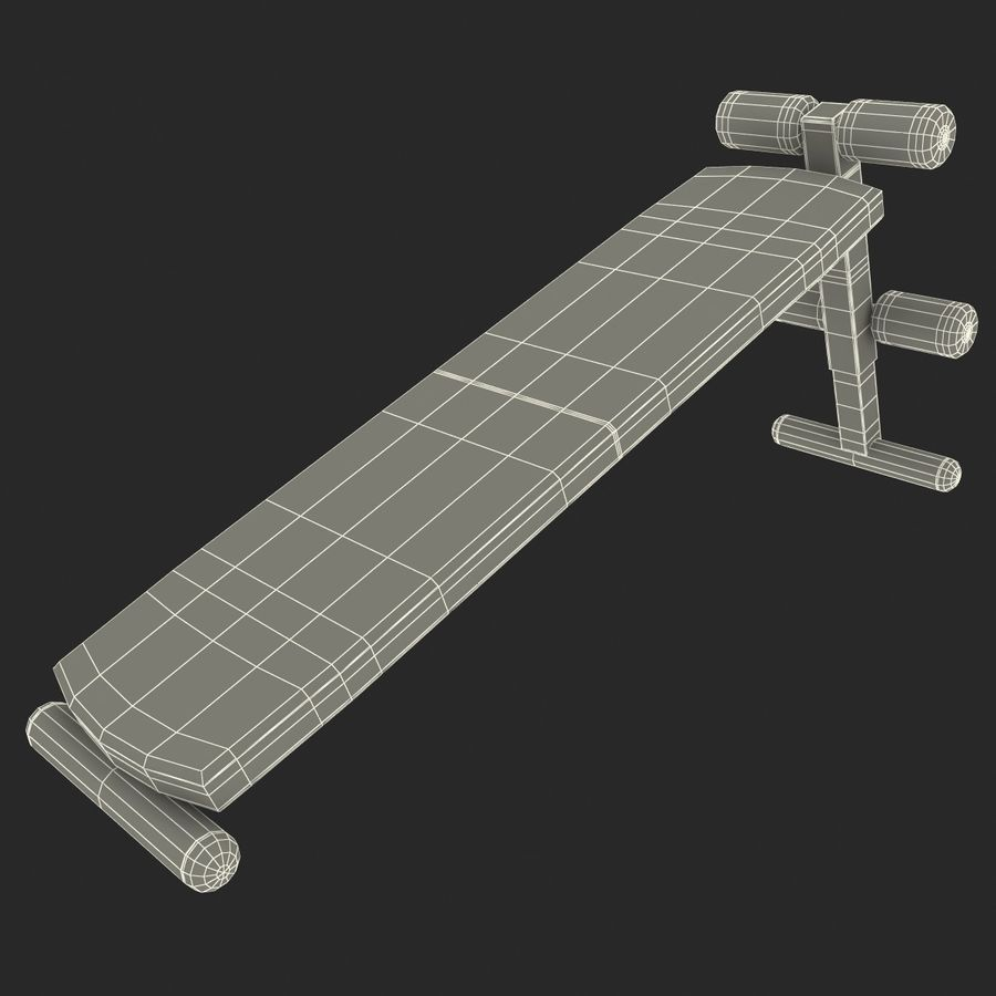 Apex Sit Up Board royalty-free modelo 3d - Preview no. 20
