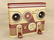 Retro Stereo System 3d model
