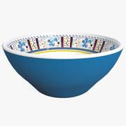 Tazón Cereal Azul modelo 3d