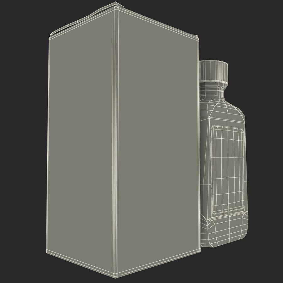 Cough Medicine royalty-free 3d model - Preview no. 19