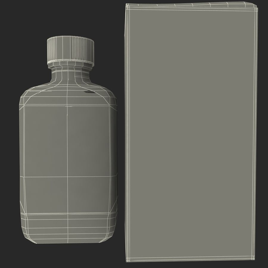 Cough Medicine royalty-free 3d model - Preview no. 17