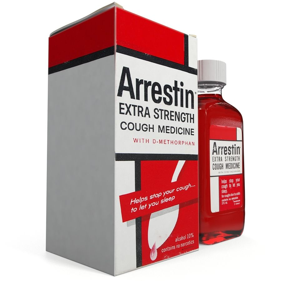 Cough Medicine royalty-free 3d model - Preview no. 9