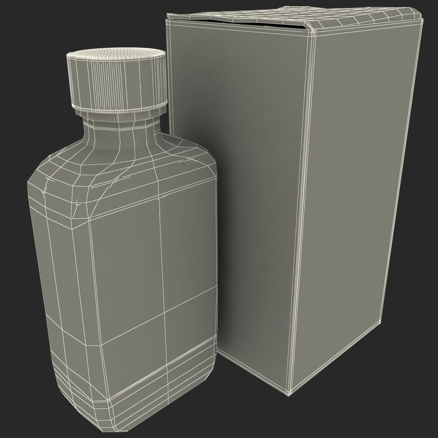 Cough Medicine royalty-free 3d model - Preview no. 16