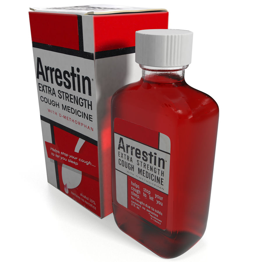 Cough Medicine royalty-free 3d model - Preview no. 2