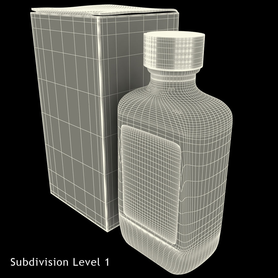 Cough Medicine royalty-free 3d model - Preview no. 21