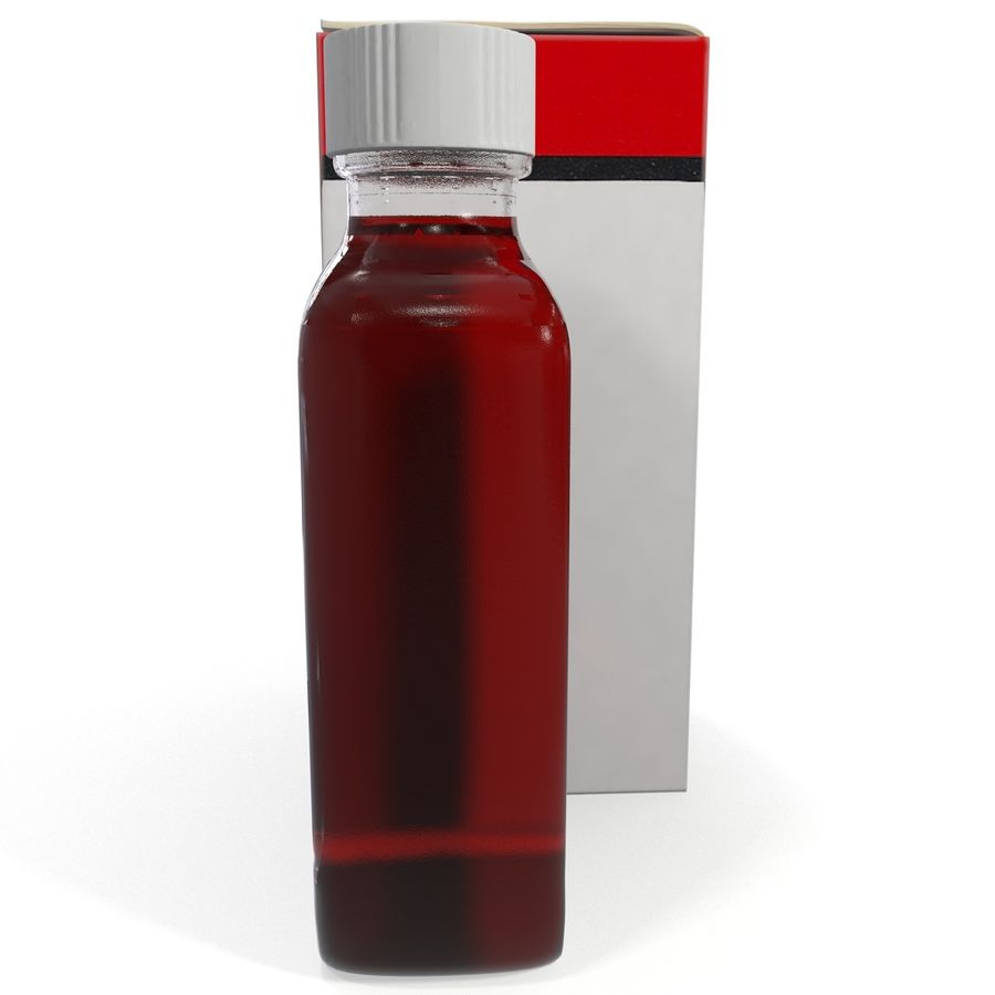 Cough Medicine royalty-free 3d model - Preview no. 4